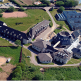 photo aerienne du lycée